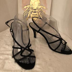 Nina Black Venda Strappy Heels